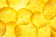 Potato Chips Background / Crisps / Macro / Back-lit