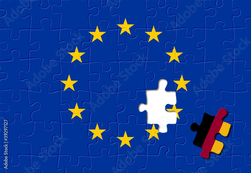 Jigsaw puzzle showing Germany is a part of the European Union