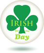 Irish for the day badge  on white
