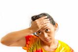 asian young woman stress portrait