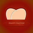 Red beige Happy Easter background