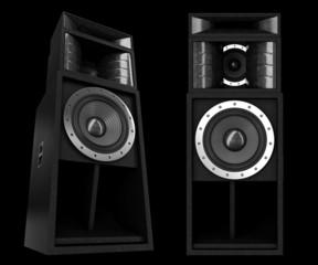 pro speakers isolated