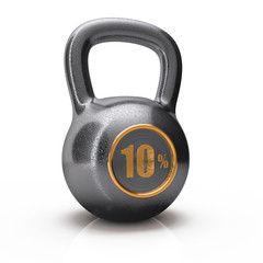 icon weight from 10% ten percent is isolated on a white backgrou