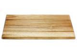 Fototapety Holzbrettchen auf weißem Hintergrund