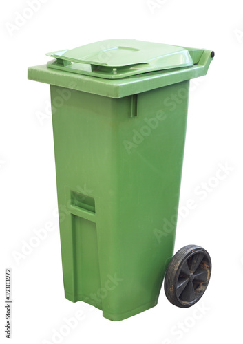 Recycle Bin isolated on white background