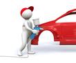 3D Man car paint