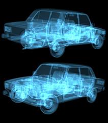 x ray car isolated
