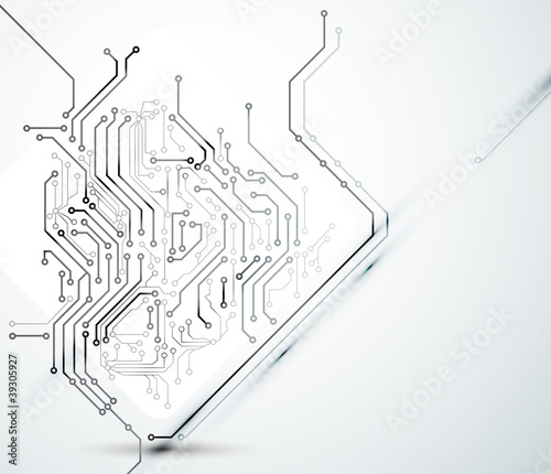 White Abstract background of digital technologies