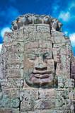 Stone face, Bayon Temple - Angkor Area, Cambodia, Southeast Asia poster