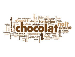 """Nuage de Tags """"CHOCOLAT"""" (plaisir bon appétit envie dessert)"""