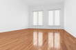 Empty Room with shutter on window