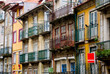 Old narrow houses in Porto, Portugal