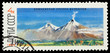 USSR postmark: largest active volcano on Kamchatka peninsula
