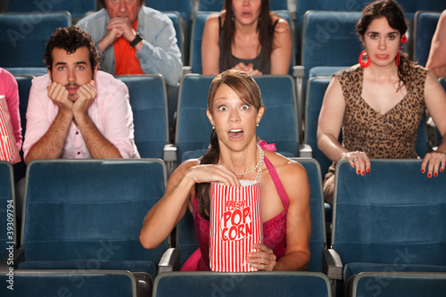 Surprised Audience in Theater
