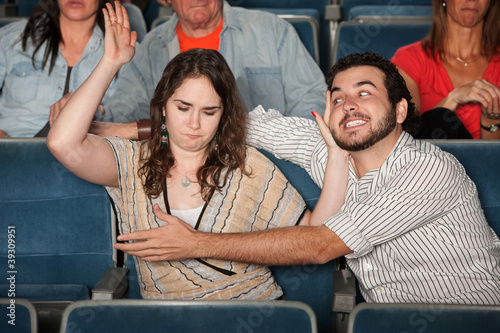 Aggressive date in Theater