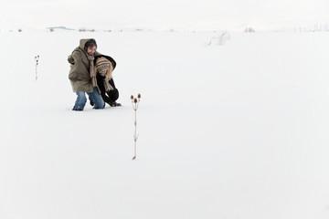 survivals snow winter field