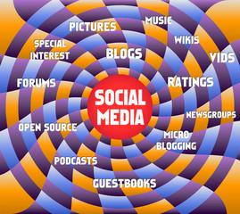 social network concept, vector illustration