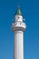 Small white minaret