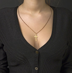 Low Neckline with a Cross 03
