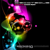 Background for music international disco even