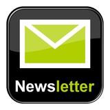 Glossy Button schwarz -Newsletter