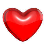 Transparent red candy heart