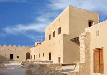 Inside view western portion of Riffa fort, Bahrain