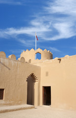 Close view of the western watch tower of Riff fort, Bahrain