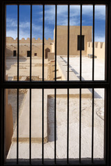 visualizing from the window inside the Riffa Fort, Bahrain