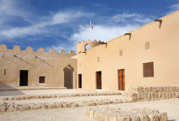 Western part of Riffa Fort Bahrain, inside view