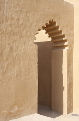 beautiful design archway inside Riffa Fort, Bahrain