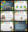 Colorful template for advertising with students