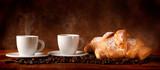 Fototapety Caffè con cornetti freschi