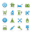 Transportation and car repair icons - vector icon set