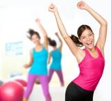 Fototapety Fitness dance zumba class