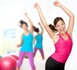 Fitness dance zumba class