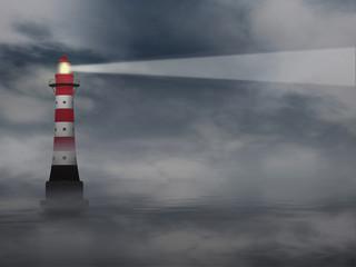 Leuchtturm *** im Nebel