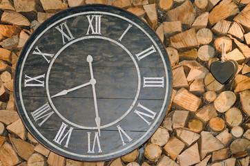 Horloge au chalet