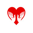Logo friends of the heart, cardiologist # Vector