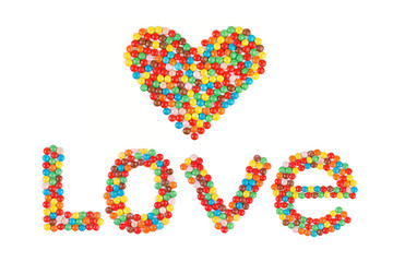 """The word """"love"""" and the heart"""