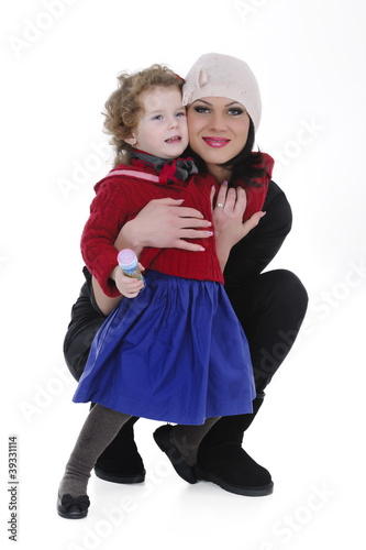 mother and daughter studio shoot
