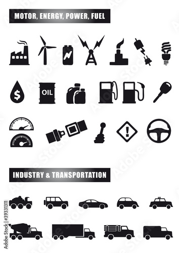 motor and power icons
