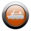 "Orange Metallic Orb Button ""Cruise Liner"""