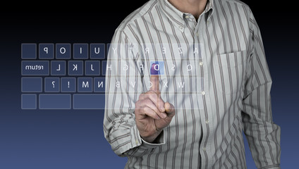 touchscreen interface with azerty keyboard
