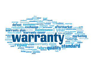 WARRANTY Tag Cloud (product service quality reliability failure)