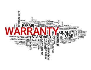 WARRANTY Tag Cloud (quality reliability product service factory)