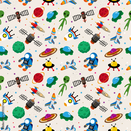 seamless space pattern - 39332766
