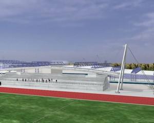installazione sportiva progetto rendering 3d ingegneria