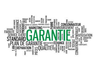 """Nuage de Tags """"GARANTIE"""" (qualité service client produit panne)"""