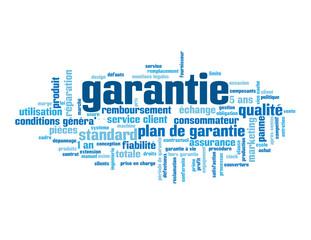 """Nuage de Tags """"GARANTIE"""" (réparation produit qualité fiabilité)"""